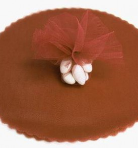 Chocolate Tulle Circle