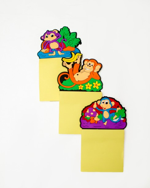 PVC Coated Cartoon Fridge Magnet Notepad