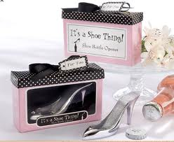 Shoe bottle opener wedding favor