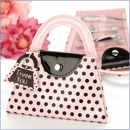 Polka Dot Purse Manicure Favor Set