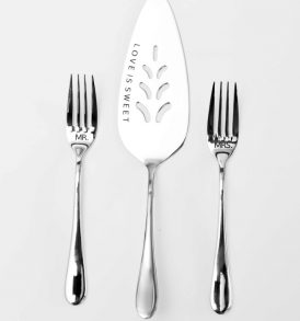 Cake Knife and Fork Set