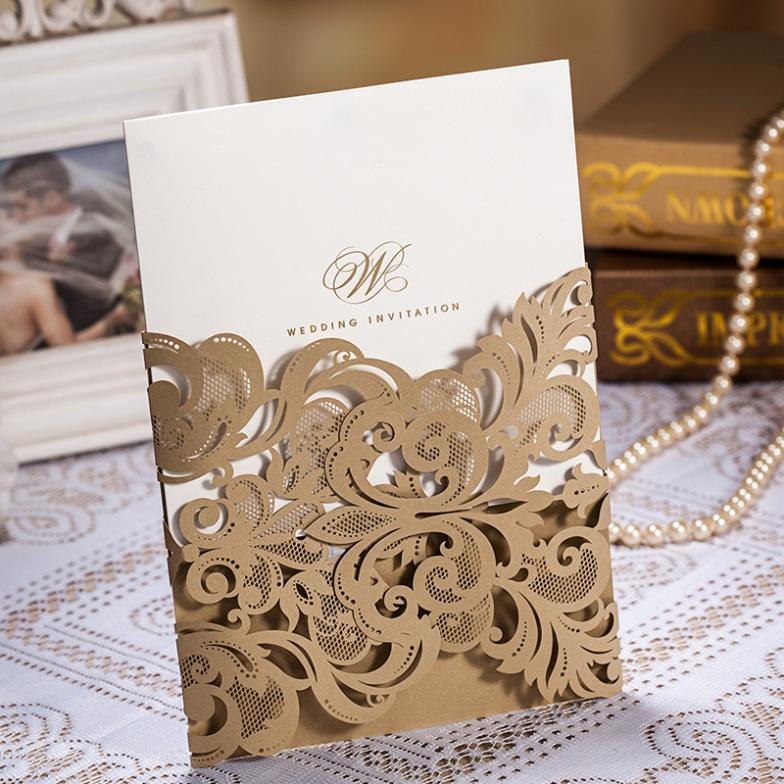 Luxury Cut Laser Pocket Invitation