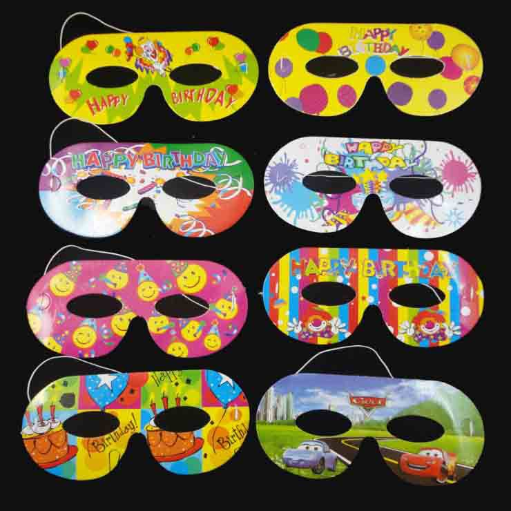 Kids Party Cartoon Face Mask Pk Of 10 We Celebrate Your