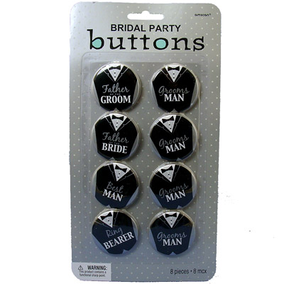 Groom's Bridal Buttons