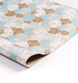 Blue Roses Gift Wrap