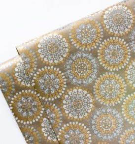 Gold & Silver Mosaic Gift Wrap