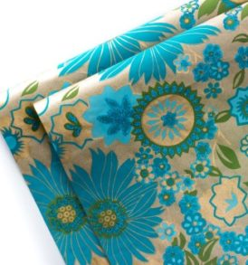 Turquoise Classic Gift Wrap