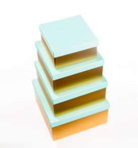 Turquoise & Gold Gift Boxes (Set of 4)