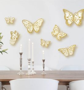 3D Glitter Butterfly Wall Art