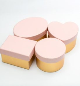 Blush Pink & Gold Favour Boxes