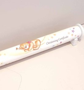 Ceramic Christening Certificate Holder