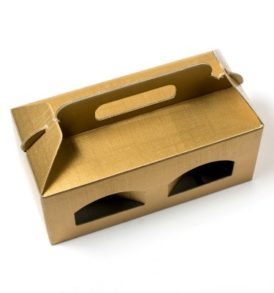 Gold Window Favour Box