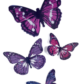 Metallic Butterflies Wall Decor