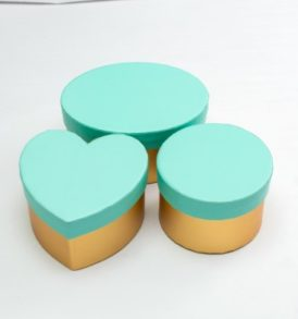Turquoise & Gold Favour Boxes