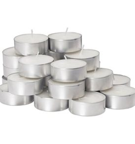 White Unscented Tea Lights