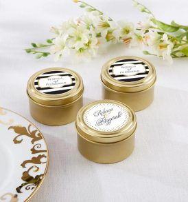 Gold Metal Tin Containers