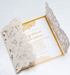 Luxury Laser Cut Wedding Invitation