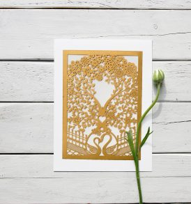 Tree Laser Cut Wedding Invitation