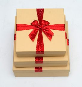 3 Set of Gift Boxes with Ribbon