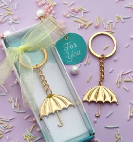 Gold Umbrella Key Holder