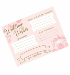 Wedding Wishes Cards