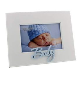 Laser cut 'baby' blue photo frame