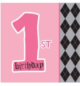 first birthday party napkins