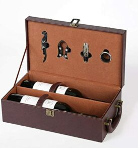 Double Wine Leather Box